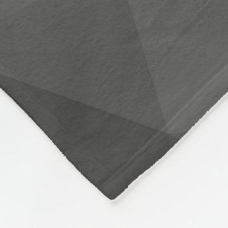 Grey Gradient Geometric Mesh Fleece Blanket