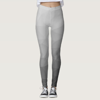 Grey Gradient Geometric Mesh Leggings