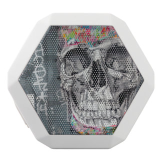 Grey Graffiti Skull Speaker