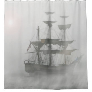 Grey, Gray Fog Pirate Ship