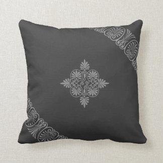 Grey Gray Greco-Roman Greek Design Parthenon Throw Pillow