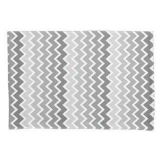 Grey Gray Ombre Chevron Zigzag Pattern Pillowcase