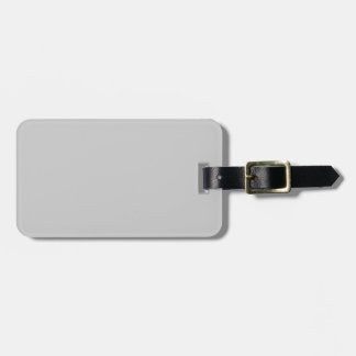 Grey / Gray Template Luggage Tag