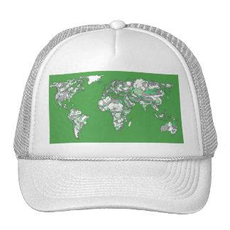 Grey green atlas trucker hat