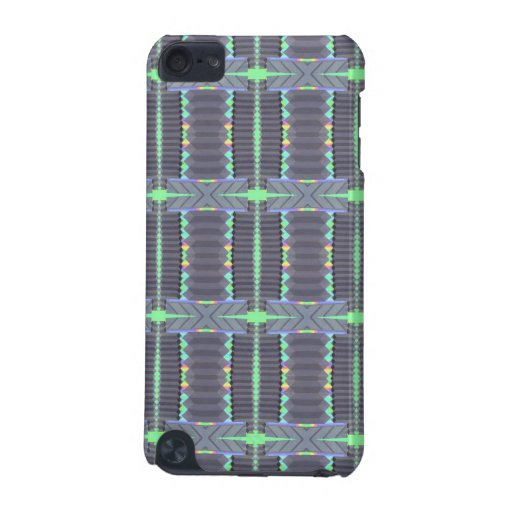 grey green deco design iPod touch (5th generation) cases