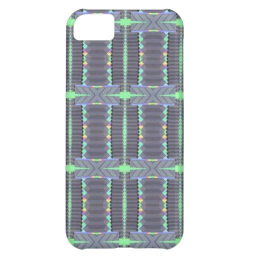 grey green deco design iPhone 5C case