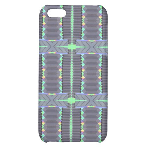 grey green deco design cover for iPhone 5C