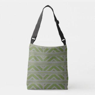 grey green tote bag