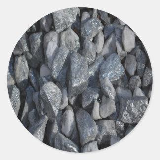 Grey-Grey stones by Khoncepts Round Sticker