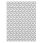 Grey Grey White Moroccan Quatrefoil Pattern #5 Tablecloth