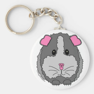 Grey Guinea Pig Keychain