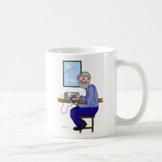 Grey Hair and Bearded Ham Radio Operator Coffee Mug