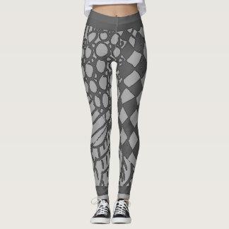 Grey Harlequin leggings