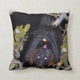 Grey-Headed Flying Fox Throw Pillow