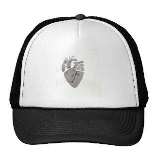 Grey Heart Trucker Hat