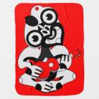 Grey Hei Tiki playing red ukelele Baby Blanket