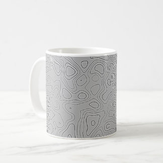Grey Height Map Coffee Mug