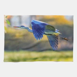 Grey heron, ardea cinerea kitchen towel
