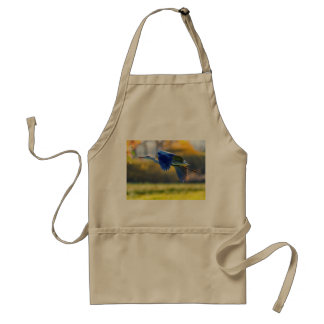 Grey heron, ardea cinerea standard apron