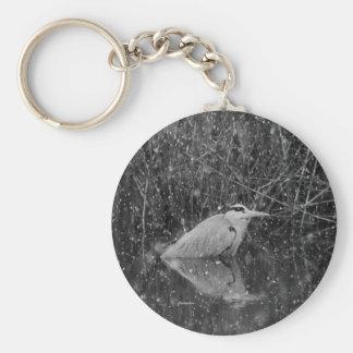 Grey Heron Keychain