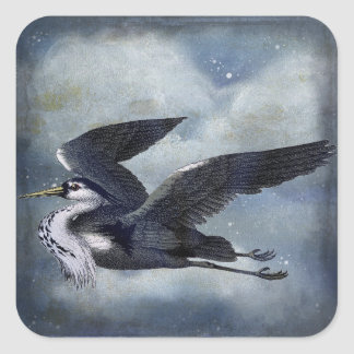Grey Heron wildlife Stickers