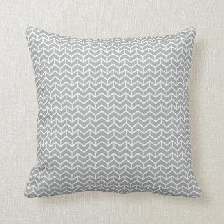 Grey Herringbone Bricks Throw Pillow