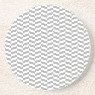 Grey Herringbone Coaster