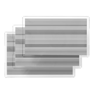 Grey horizontal stripes acrylic tray