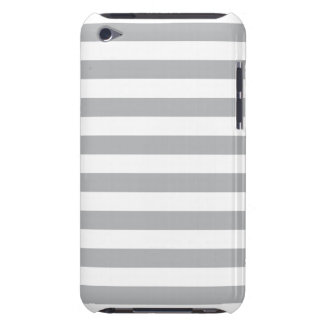 Grey Horizontal Stripes Barely There iPod Cases
