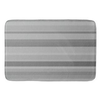 Grey horizontal stripes bathroom mat