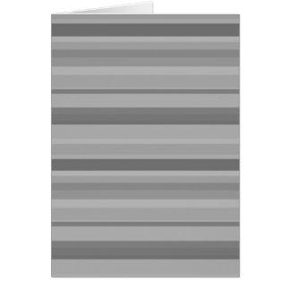Grey horizontal stripes card