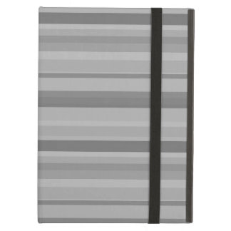 Grey horizontal stripes case for iPad air