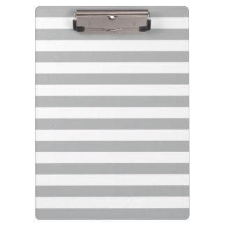 Grey Horizontal Stripes Clipboard