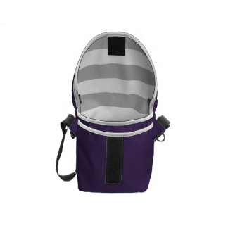 Grey Horizontal Stripes Courier Bags