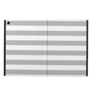 Grey Horizontal Stripes Cover For iPad Air