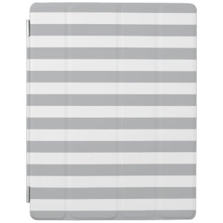 Grey Horizontal Stripes iPad Cover