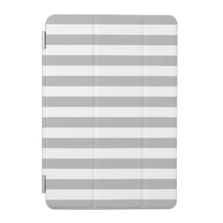 Grey Horizontal Stripes iPad Mini Cover