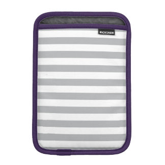 Grey Horizontal Stripes iPad Mini Sleeves