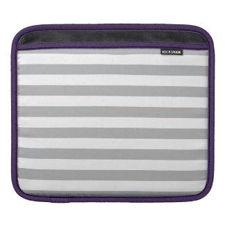 Grey Horizontal Stripes iPad Sleeve