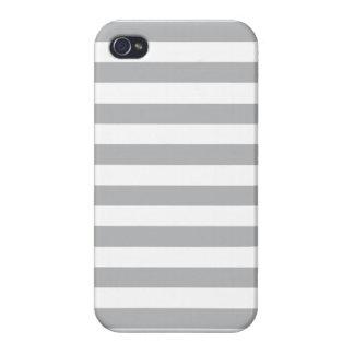 Grey Horizontal Stripes iPhone 4 Cases