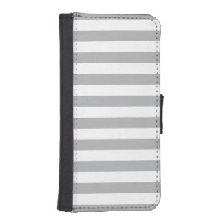 Grey Horizontal Stripes iPhone SE/5/5s Wallet Case