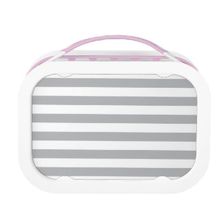 Grey Horizontal Stripes Lunch Box