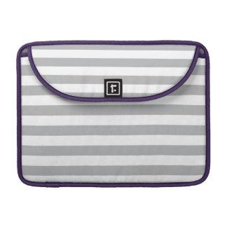 Grey Horizontal Stripes MacBook Pro Sleeve