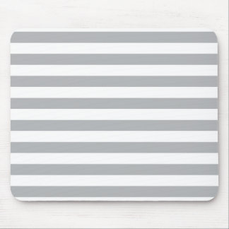 Grey Horizontal Stripes Mouse Pad