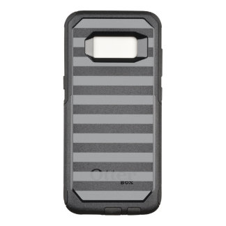 Grey Horizontal Stripes OtterBox Commuter Samsung Galaxy S8 Case