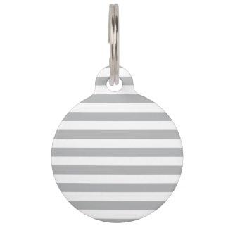 Grey Horizontal Stripes Pet Tag