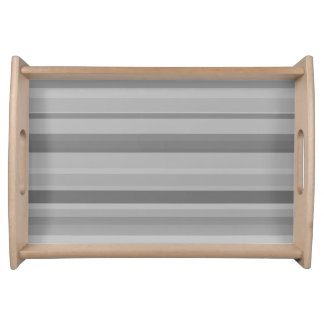 Grey horizontal stripes serving tray