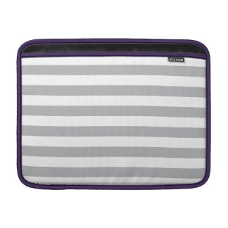 Grey Horizontal Stripes Sleeve For MacBook Air