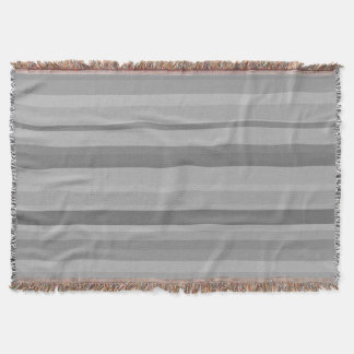 Grey horizontal stripes throw blanket