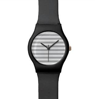 Grey Horizontal Stripes Watch